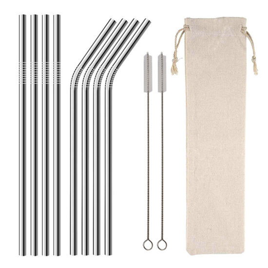 Wholesale Kids Eco Friendly 304 Stainless Steel Straw Set