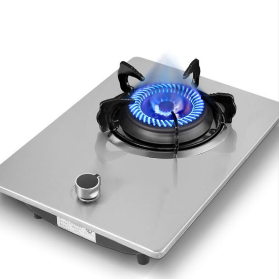Built-in Dual Purpose Gas Stove Single Stove Stainless Steel Tempered Glass Gas Single Stove Home Rental House Fierce Fire Stove