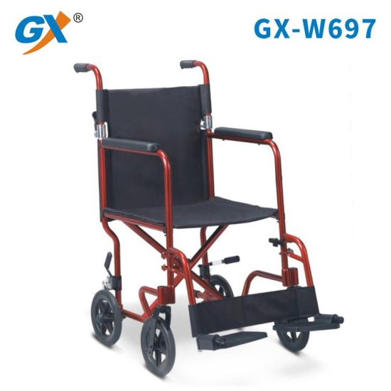 Foldable Small Size Manual Wheelchair with Aluminum Frame