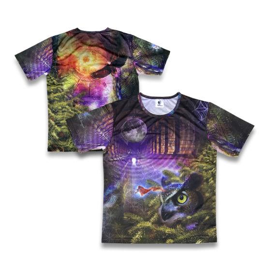 Cheap Wholesale Custom Cotton Men T-Shirt Clothing Apparel Sublimated Pattern Design Particular T Shirt