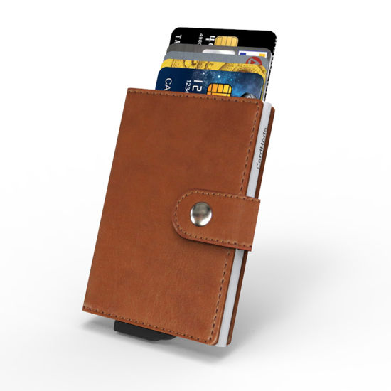Factory Wholesale Amazon RFID Blocking PU Leather Credit Card Holder for Men Wallet
