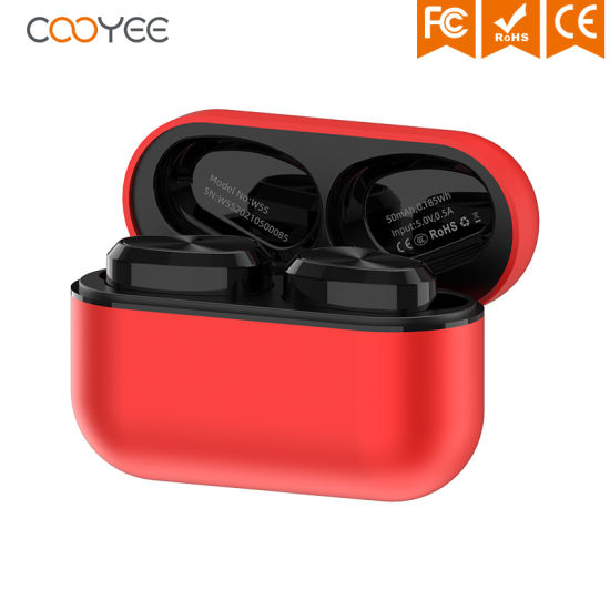 W5s Earhook Type CD Pattern Button Type in-Ear Touch Type 8hour Music Time Bluetooth Earbuds