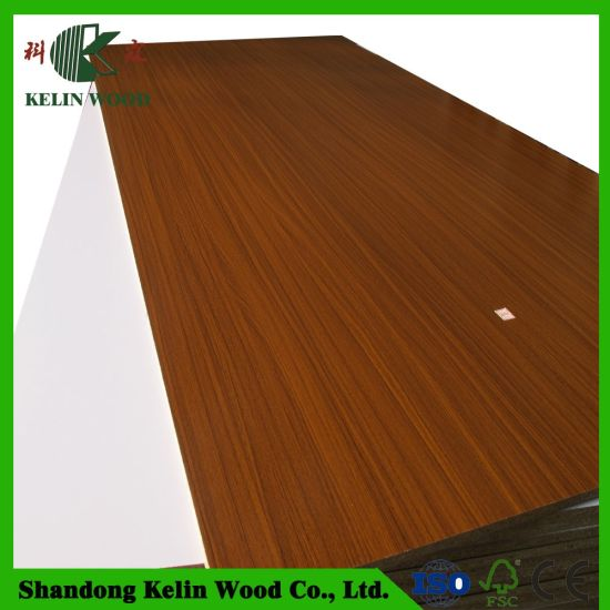 Solid Color/Wood Grain Melamine Laminated Chipboard/Particle Board with Factory Price