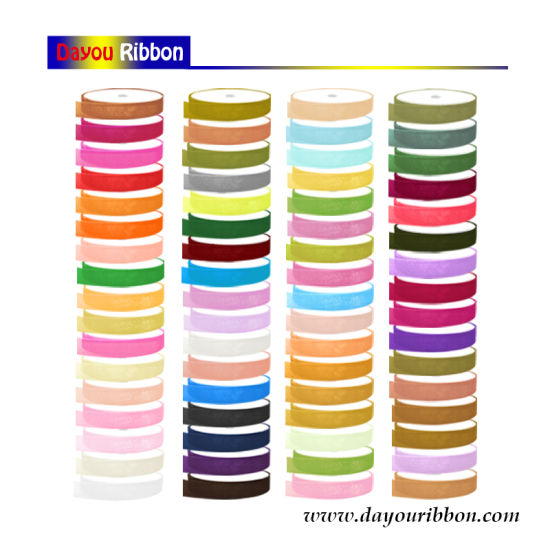 "1/4""-2"" Wholesale Organza Ribbon 81 Colors Silk Gift Ribbon Christmas/Custom/Holiday/Decoration-Dy08001 pictures & photos"
