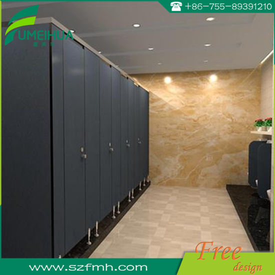 China Stainless Steel Toilet Partition HPL Phenolic Toilet Cubicle - Stainless steel bathroom partitions
