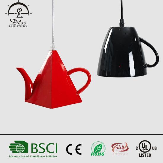 2019 Wholesale Fancy Tea Cup Pendant Lamp for Coffee Shop Decoration