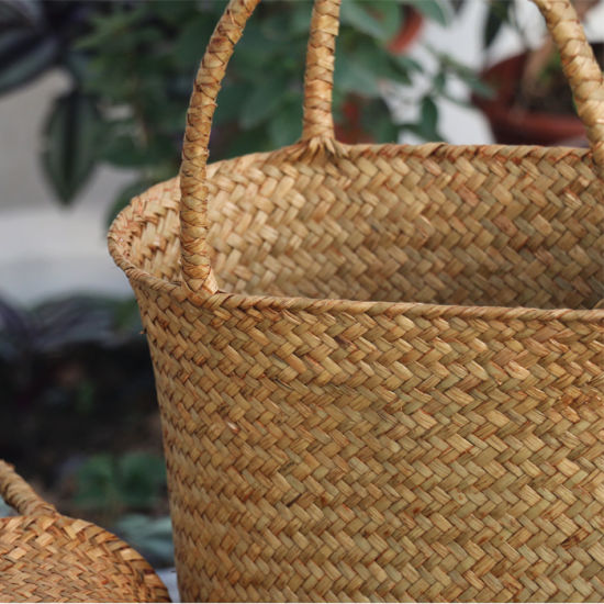 Eco-Friendly Handmade Natural Straw Flower Basket (BC-S1201) pictures & photos