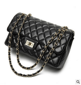 Diamond Lattice Leather Chain Handbag Shoulder Bag pictures & photos
