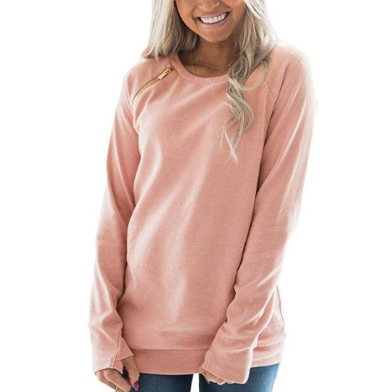 Custom 2019 New Fashion Plain Blank Sweatershirt for Ladies