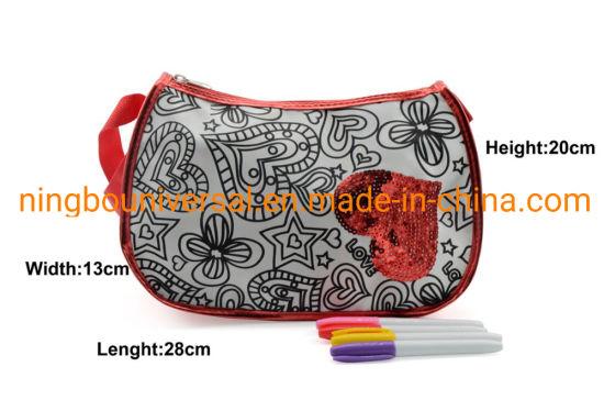 Fashion Red Shining Girl Gift Toy Kids DIY Coloring Bag