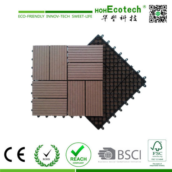 Wood Plastic Composite Decking DIY Tile Terrace WPC Decking Tile Patio Tiles