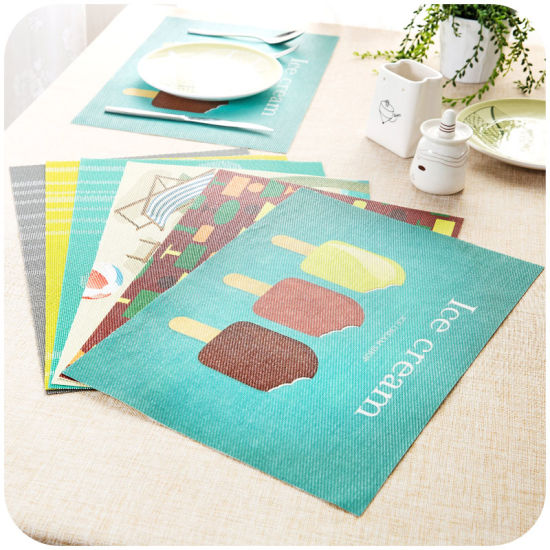 Waterproof Washable Plastic Vinyl Table Mats