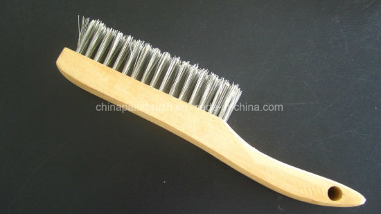 Hot Item Stainless Steel Wire Brush With Wooden Handle