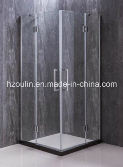 Frameless Glass Showers Systems with Free Hinges, Door Stop Profiles and Floor Profiles.