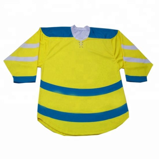 OEM Factory Custom Cut and Sew Tackle Twill Hockey Jersey Sublimation Team Player Name Hockey Top Wear