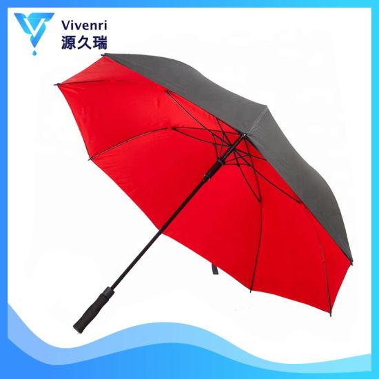 Auto Open Golf Umbrella, 50/60 Inch Windproof Oversize, Double Canopy Sturdy