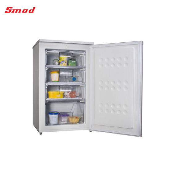 Single Solid Door Upright Mini Freezer with Drawer