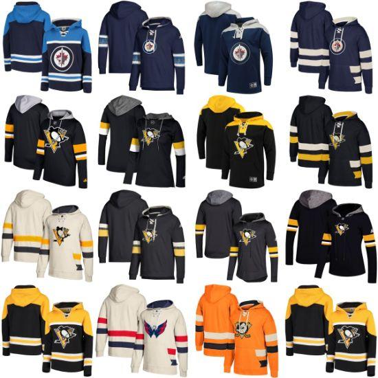 Wholesale 2019 Jets Penguins Ducks Putian Replica Sweaters Pullovers Hoodies