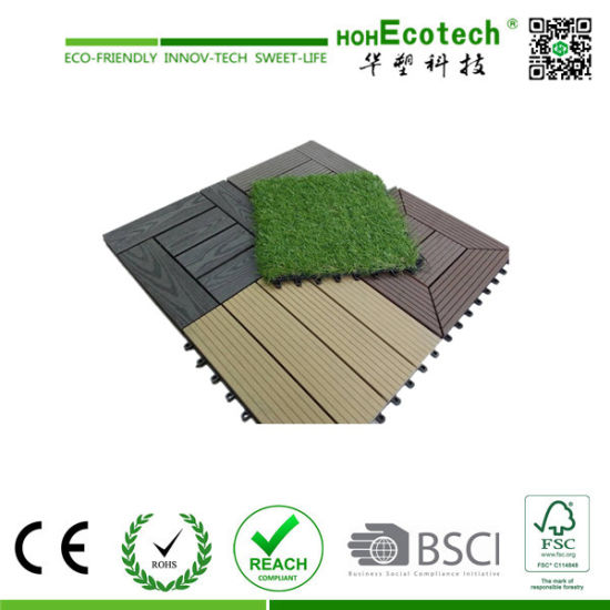 Wood Plastic Composite Decking DIY Tile Terrace WPC Decking Tile Patio Tiles    China Wood Plastic