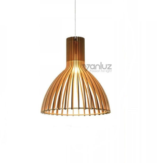 Wooden Cage Creative Simple Pendant Lights For Home Dining Room Kitchen Coffee Bar Living Room With An Led E27 Bulb