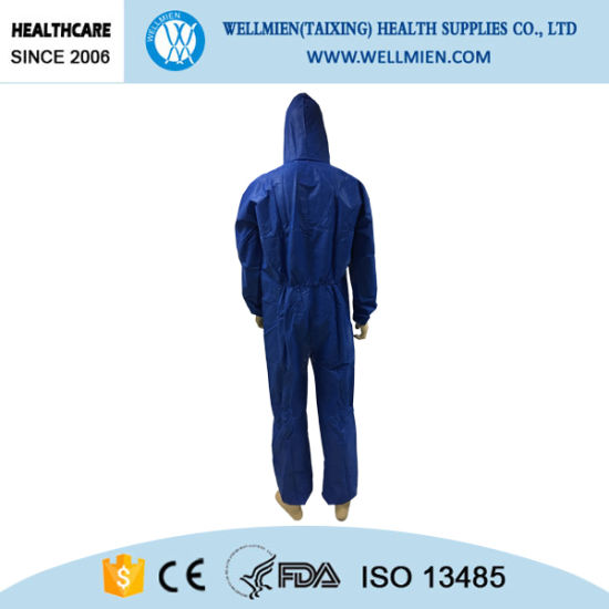 Disposable SBPP/SMS/SF Overall with Hood pictures & photos