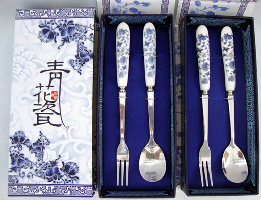 Ceramic Handle Stainless Steel Cutlery Set with Gift Box pictures & photos