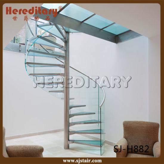 Prefab Steel Wood Straight Staircase / Arc Stairs /Spiral Stair pictures & photos