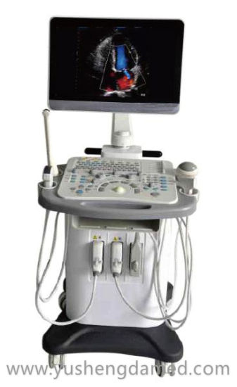 Ysd790 18.5 Inch Trolley Color Doppler Ultrasound Scanner pictures & photos