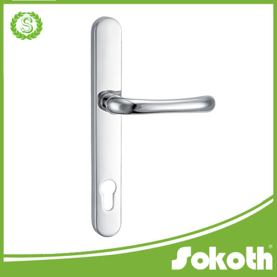 European Market Aluminum Alloy Door Handle on Plate pictures & photos