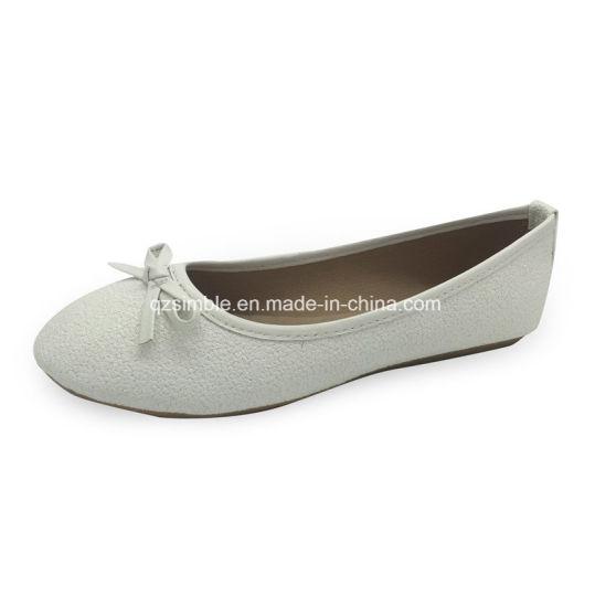 Children Fashion Ballerina Shoes with PU Upper