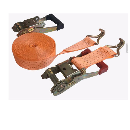 1.5 Inch 2t Polyester Rubber Handle Ratchet Tie Down Cargo Lashing Strap Belt