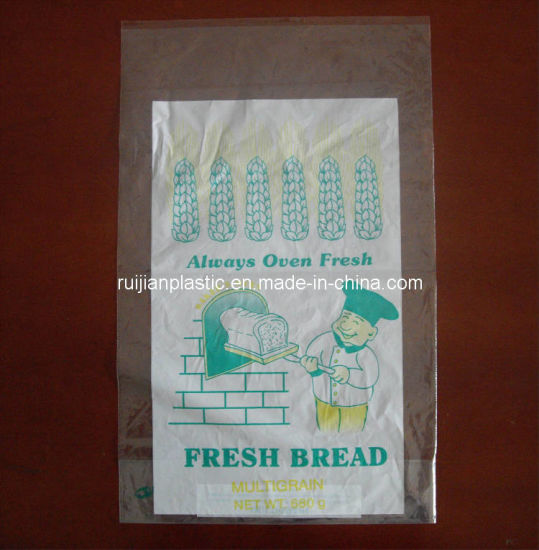 China Manufactsurers Price Printing Plastic Film Bread Bag