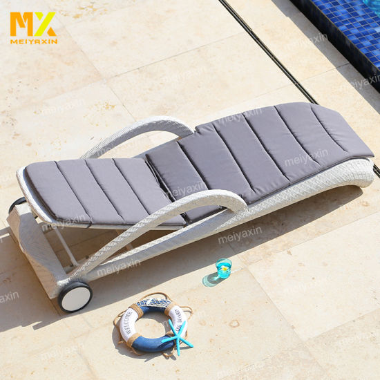 Wholesale Morden Comfortable Lounger with High Quality Rattan Weave