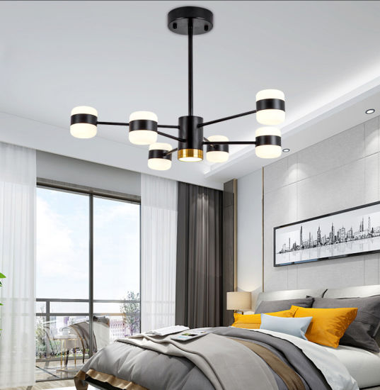 Dining Lamps Home Decor Black Ceiling, Modern Led Chandeliers For Bedroom