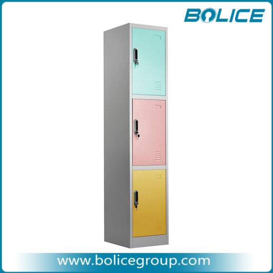 Knock Down Type Triple Door Steel Locker pictures & photos