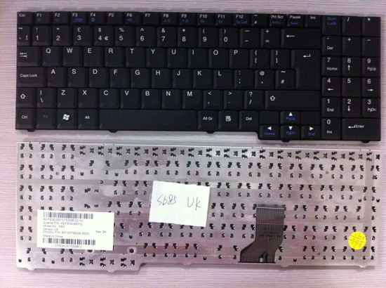 Original Fr UK Layout Laptop Keyboard for Packavd Bell SB85