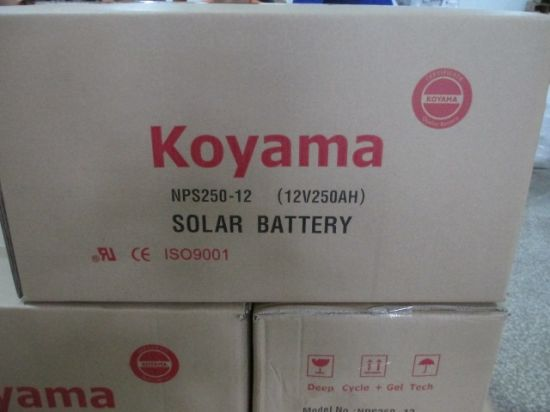 Guangzhou 250ah 12V PV System Gel Deep Cycle Battery Nps250-12 pictures & photos