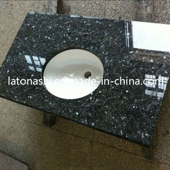 Natural Blue Pearl Stone Tile Granite for Coutertop, Slab, Backsplash pictures & photos