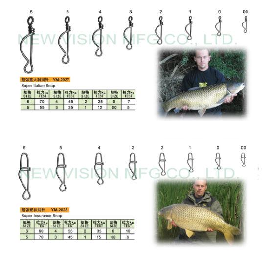 Carp Fishing Tackle Accessories Super Italian Snap (YM-2027, 2028)