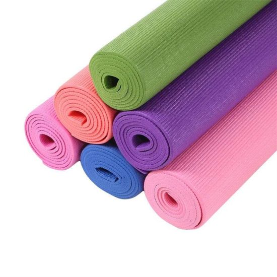Customized Logo Colorful 4-10mm Thickness PVC Yoga Mat for Yoga