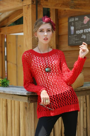 Summer Apparel New Style Knitwear Women Sexy Hollow Ladies Sweater