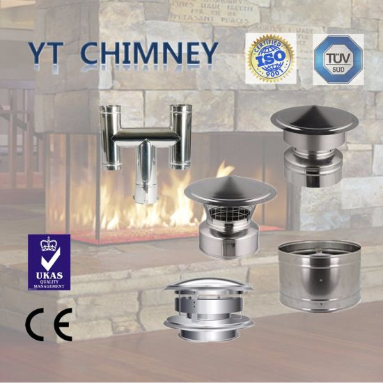 Stainless Steel Cast Iron Burner Stove Pipes Double Wall Insulated
