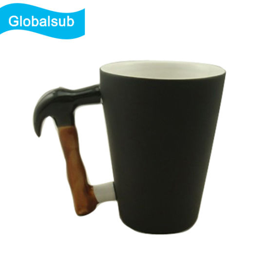 4871c3c3277 12oz Ceramic Color Changing Sublimation Mug with Hammer Handle pictures &  photos