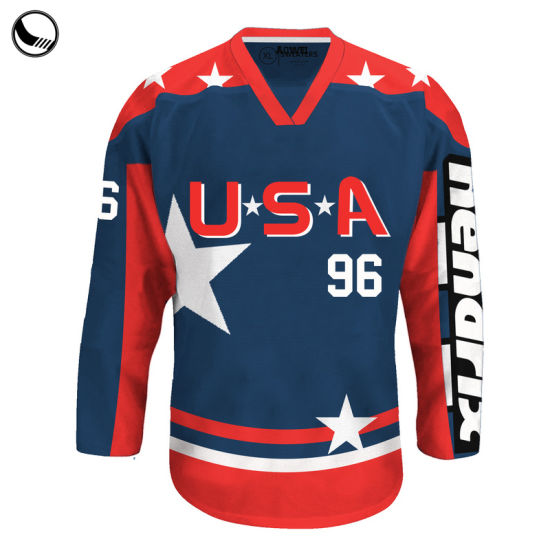 huge selection of 237ed 1c643 Customized Made Sports Wear Fashion Lace up Wholesale Blank Hockey Jersey
