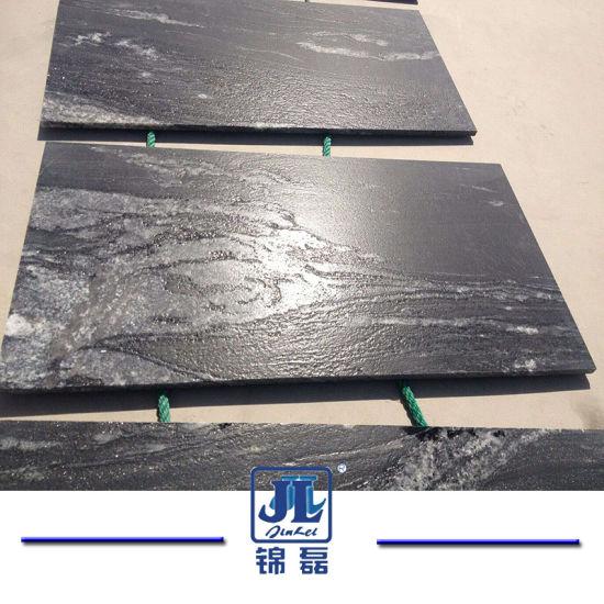 Building Material Factory Natural Stone Black Granite Tile for Counter Top/Vanity Top/Table/Tiles/Paving/Floor