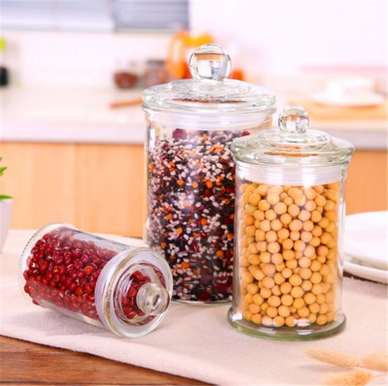 Different Volume Airtight Food Storage Jars with Lid pictures & photos