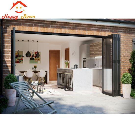 China Aluminumaluminium Exterior Bifold Door With 5mm Double