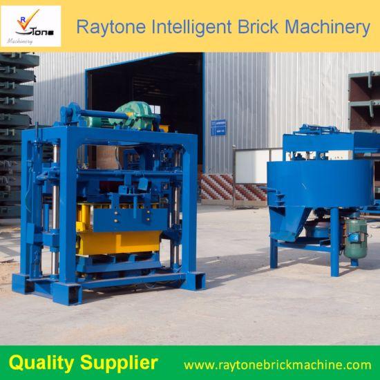 Qt40-2 Manual Cement Block Machine Concrete Brick Making Machine