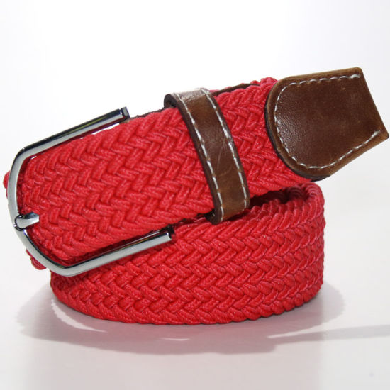 S01-S06 Free Size Elastic Braided Belts for Man and Women