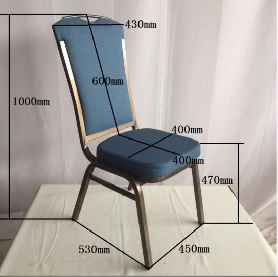Hot Sell Stackable Fabric and Iron Metal Dining Room Hotel Luxury Hotel Furniture Banquet Chair
